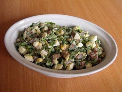 Салат из сельди с сыром