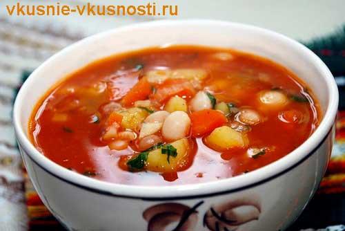 суп с консервированной фасолью в томатном соусе рецепт с фото