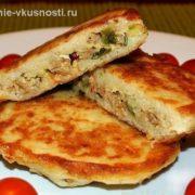 Картофельные оладьи с мясом