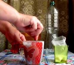 Растворить чайную ложку кофе