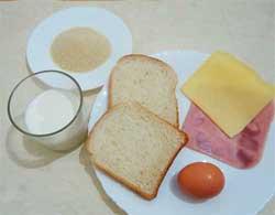 Состав продуктов для гренок