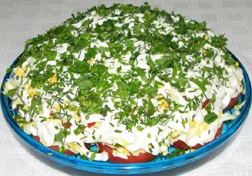 Салат из помидор