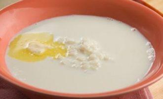 Суп из молока с рисом