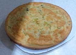 Быстрый заливной пирог с капустой