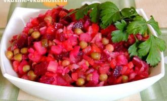Рецепт овощного винегрета.