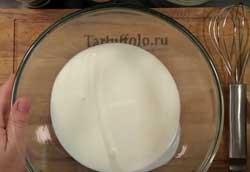 Тесто для блинов на молоке и кефире