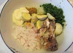 Яйца, фаршированные рыбными консервами