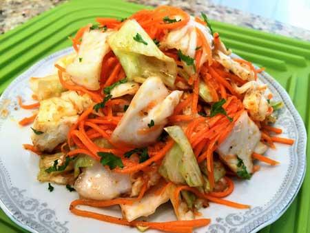 Корейский салат из капусты