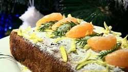 Рождественский кекс с сухофруктами и мандаринами
