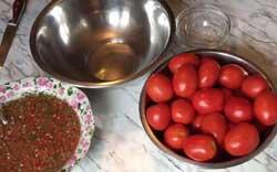 Острая корейская закуска из свежих помидор