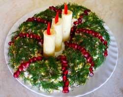 Салат Рождественские свечи