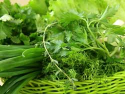 Зелень против лишнего веса