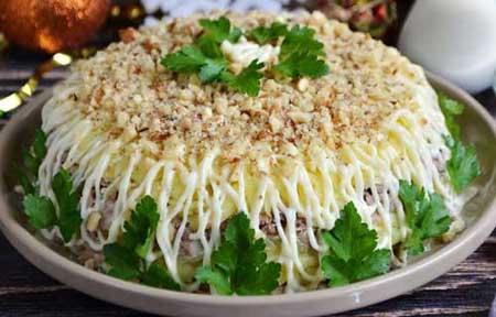 Liver salad.