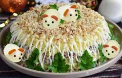 Печеночный салат с мышками.