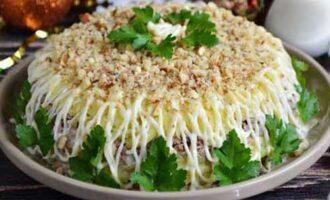 Салат из нежной куриной печени