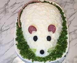 Салат Мышка для детских праздников.