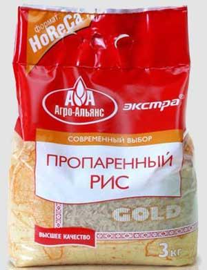 Белый пропаренный рис.