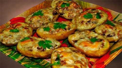 Фаршированный праздничный картофель