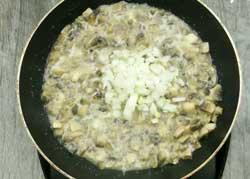 Грибы с луком для фаршированного картофеля