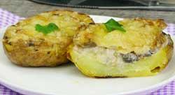 Картошка, фаршированная грибной начинкой