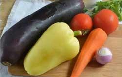Разложим овощи