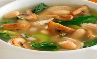 Суп с грибами.