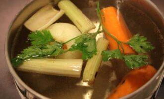 Бульон из овощей.