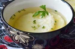 Запеченный рис в бульоне.
