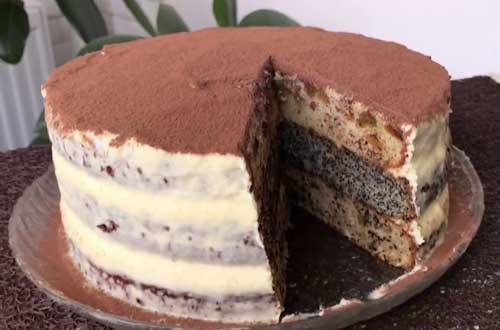 Торт со сгущенкой сказка.