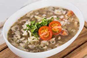 Фасолевый диетический суп.