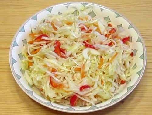 Рецепт сочной салатной капусты
