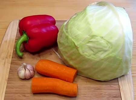 Ингредиенты для салатной капусты