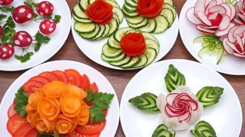 Красивые способы нарезки овощей
