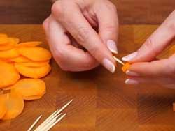 Морковная розочка