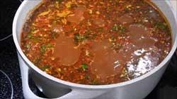 Суп харчо с мясом говядины