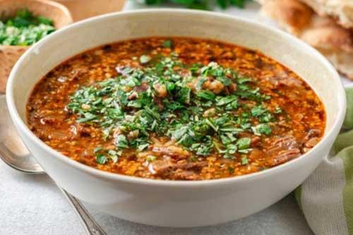 Рецепт супа харчо с говядиной, свининой и бараниной