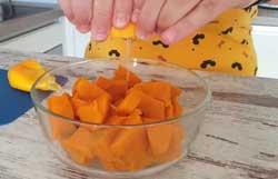 Тыква с соком апельсина