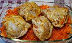 Перловка с курицей и овощами