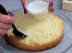 Пропитываем торт пропиткой